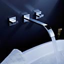 latón pared del baño montar el lavabo (generalizada) con pop-up de residuos