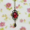 aleación de oro de la cadena de rubí pandent princesa lolita collar