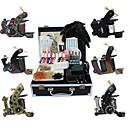 6 pistolas kit de tatuaje con fuente de alimentación de alta calidad LCD