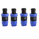 5 piezas de bloqueo cerradura de la torcedura hablar sobre cable de altavoz amplificador de conector macho de bricolaje