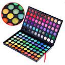 120 colores paleta de cosmética mata y del reflejo de maquillaje de sombra de ojos profesional 3in1 deslumbrante