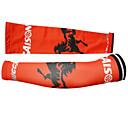 100% kooplus-los hombres de poliéster brazo de ciclismo el equipo de protección más caliente (rojo)