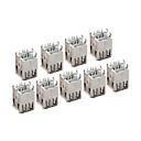 10 piezas de doble USB tipo A hembra de 8 pines conector de bricolaje
