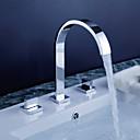 baño grifo del fregadero de diseño contemporáneo con acabado cromo generalizada grifo
