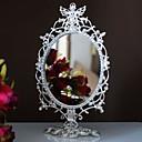 ángel de plata chapado en aleación de maquillaje espejo