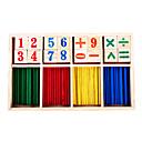 divertido juego de matemáticas caja de madera