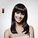 sin tapa cabello humano 100% hasta los hombros al estilo bob peluca de pelo 5 colores a elegir