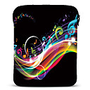 Beating Note Neoprene Tablet Sleeve Case for 10 Samsung Galaxy Tab2 iPad Motorola Xoom