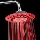 7 colores LED que cambia de cromo grifo de la ducha Head Contemporáneo de 8 pulgadas