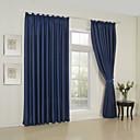 apagón cortina minimalista clásico sólido (un panel superior ojal)