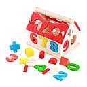 casa de madera numérico - formación espacial de los niños