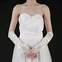 alcance de la mano de satén codo guantes de novia de longitud con fruncidos (más colores)