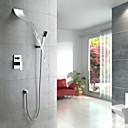 contemporánea grifo de la ducha cascada con cabezal de ducha  ducha de mano (montaje en pared)