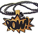 word-pow-pattern-wooden-necklace