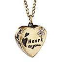 Aleación preciosa Dulce Diseño Corazón collar reloj