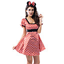 Sexy Mouse Girl Red Dots Womens Halloween Costume(2 Pieces)