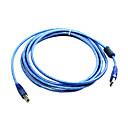 100% de cobre 128 usb2.0 cable de impresora de la mañana a bm con bucle magnético (3 m)