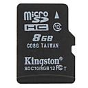10 micro tarjeta de memoria 8gb kingston clase sd / tf del sdhc