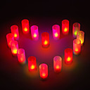 12 - LED Candle Light Singe Farbe Candle Hochzeit oder Party Geschenke