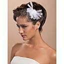 15cm x 8cm precioso tul de novia de la boda flor blanca / ramillete / casco