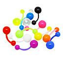 Acrílico ombligo / oído Piercing colores (colores surtidos)