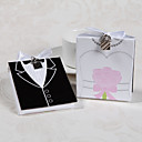 Side by Side Bride-and-Groom Photo Album Favors