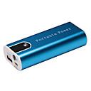 5200mah batería portátil de energía móvil con carcasa de aluminio llevó la luz