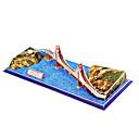 20 Piezas DIY Arquitectura 3D Puzzle EE.UU. Puente Golden Gate (dificultad 4 de 5)