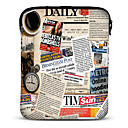 Newspaper Barbola 10 Neoprene Tablet Sleeve for Samsung Galaxy P5100N8000iPadMotorola Xoom