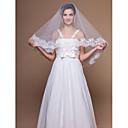 1 capa velos codo de la boda con apliques de encaje / borde acabado (más colores)