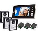 """2.4GHz inalámbrico de 7 """"LCD Monitor Home Video Seguridad Teléfono de puerta y sistema de intercomunicación (3 cámaras)"""