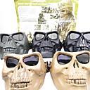 Airsoft plástico de alta intensidad Full-Face Mask Skull sin protección frente (colores surtidos)