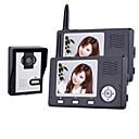 Cámara de visión nocturna inalámbrica con monitor de 3,5 pulgadas del teléfono de puerta (1camera 2 monitores)