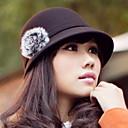 ajustable mujeres de lana tweed flor sombrero (circunferencia :53-57cm)