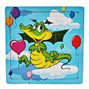 Personajes lindo Madera Jigsaw Puzzle Juguetes educativos (9 Piezas, Estilo azar)