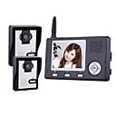 2.4GHz inalámbrico de 3,5 pulgadas Monitores de vídeo Teléfono de puerta con 2 cámaras