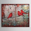 """pintado a mano aves, animales, la pintura al óleo con marco de estirado de 20 """"x 24"""""""
