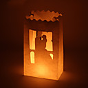 Bride Groom Cut-out Paper Luminary (Set of 4)