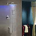 Shower Faucet Solid Brass with LED 10 inch Shower Head  Hand Shower
