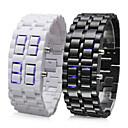 (Par) Reloj LED Sin Pantalla Tipo Brazalete (Blanco y Negro)