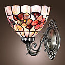 Antique Inspired Wall Light in Tiffany Style  Floral Patterned
