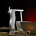 espolvorear  by lightinthebox - de una manija de latón macizo grifo del fregadero cuarto de baño (alto)-cromado