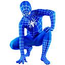 Azul y Negro Lycra Zentai de cuerpo completo Spiderman