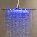 12 pulgadas de acero inoxidable cabezal de ducha con luz LED que cambia de color