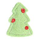 Árbol de navidad del estilo del diente de limpieza verdes Loofah Juguetes para mascotas para perros