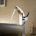espolvorear  by lightinthebox - cromado de una manija de latón macizo grifo del fregadero cuarto de baño (altura)