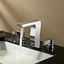 espolvorear  by lightinthebox - cromo generalizada acabado dos asas baño de latón macizo grifo del fregadero