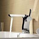 espolvorear  by lightinthebox - de una manija de latón macizo grifo del fregadero cuarto de baño de cromo acabado