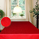 Image of jacquard astratto lascia rettangolare in poliestere tovaglia rossa