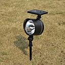 0.24W Contemporáneo de plástico blanco recargable Spotlight LED solar del jardín